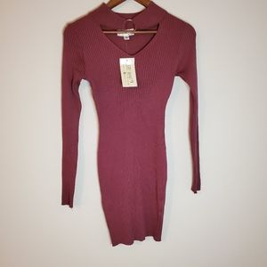 Small dress form fitting burgandy color